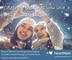 25% OFF SELECTED HEARTMATH PRODUCTS UNTIL 12/21/17