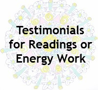 Testimonials for Readings with Sarah